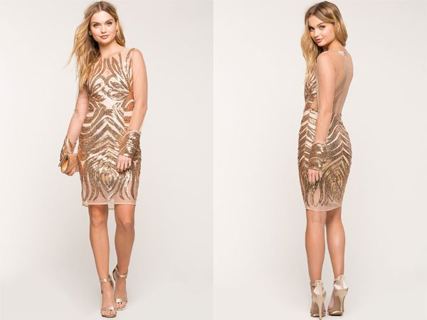 Agaci Nudist Sequin Dress