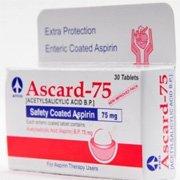 ascard tablets 75mg 150 300mg indications dosage side. Black Bedroom Furniture Sets. Home Design Ideas