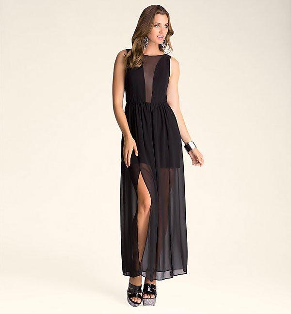 Bebe Petula Backless Maxi Dress