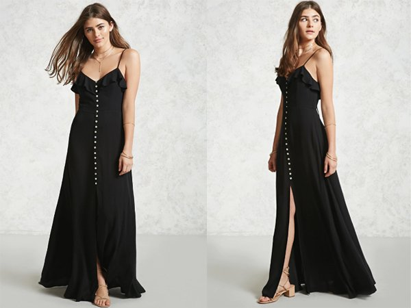 Button Up Front : Black Prom Dresses At Forever 21