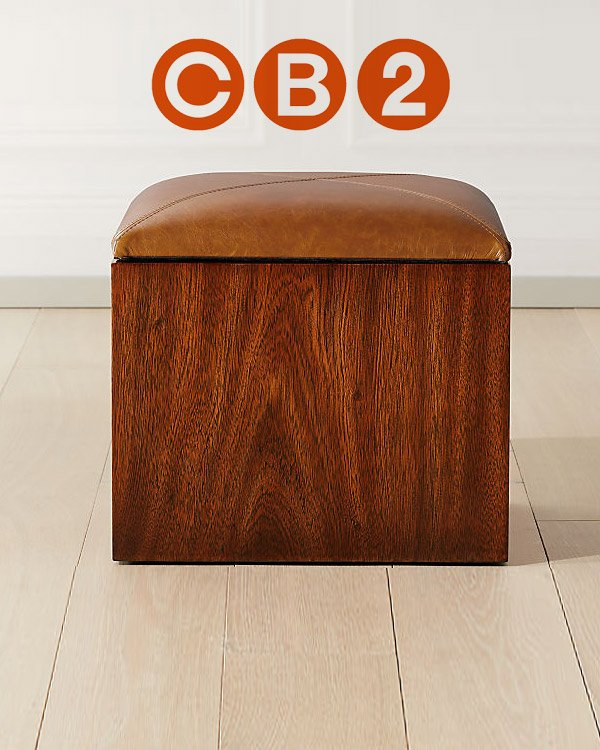 CB2 Accent Ottomans and Poufs
