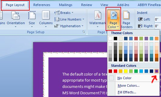 How To Change The Page Color In Word 2020
