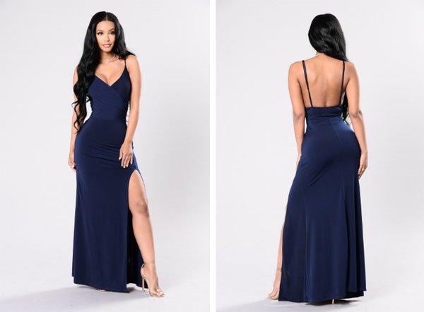Fashion Nova High Street, Backless Prom Dress