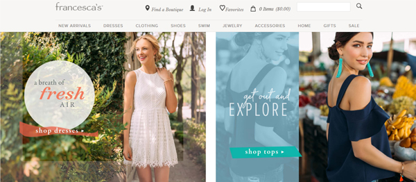 Francesca's : An Affordable Alternative to Forever 21 for Women