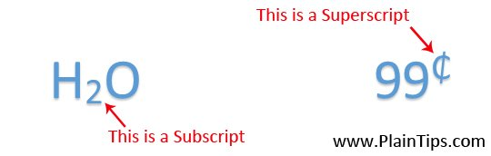 Inserting Subscript And Superscript In MS Word Manually And With Keyboard Shortcut.