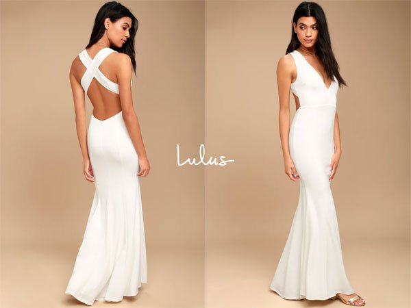 Lulus Heaven And Earth White Maxi Dress