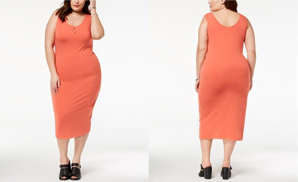 Macy's Trendy Plus Size Scoop-Neck Bodycon Dress