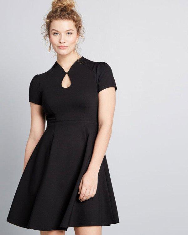 ModCloth Vintage-Inspired Black Frock