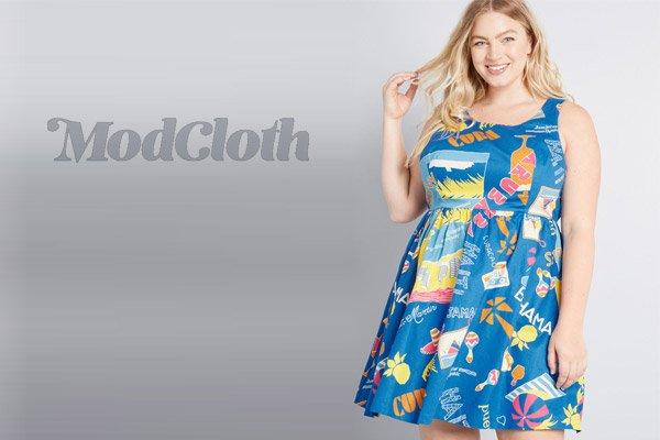 ModCloth Plus Size Floral Beach Dresses