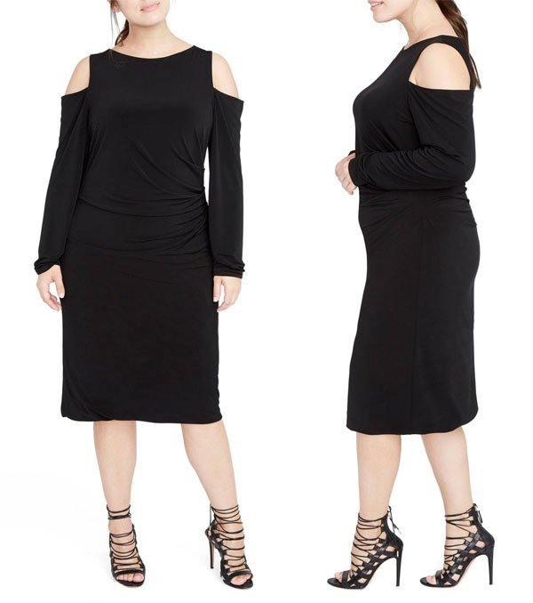 Nordstrom Cold Shoulder Jersey Midi Dress