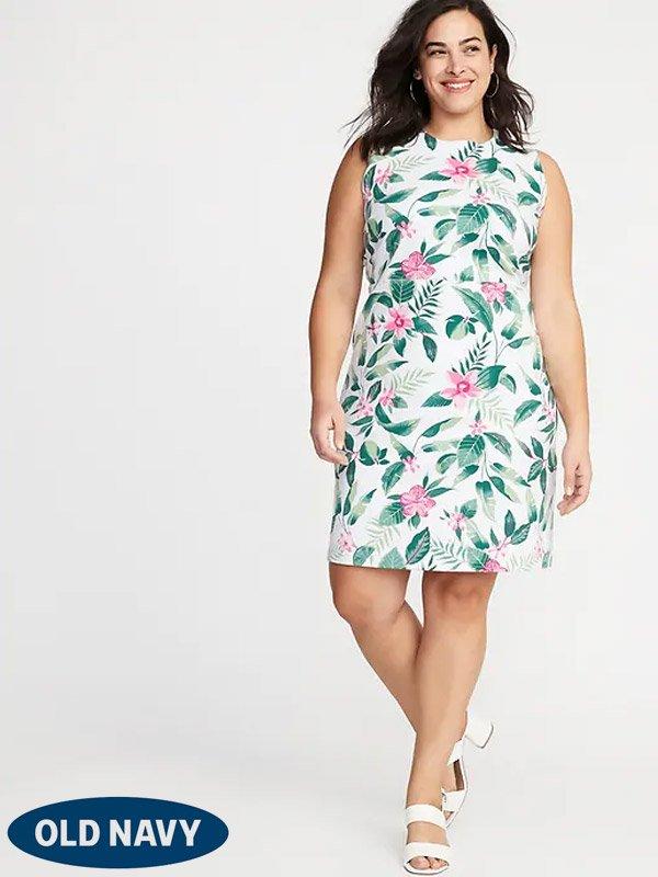 Old Navy Sleeveless Plus Size Ponte Knit Sheath Dress