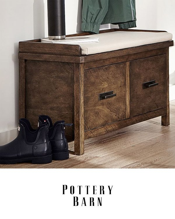 Pottery Barn Entryway Benches With Storage