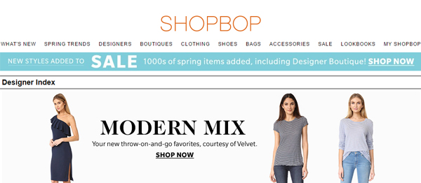 Shopbop : Affordable Designer Clothing, Shoes and Accessories