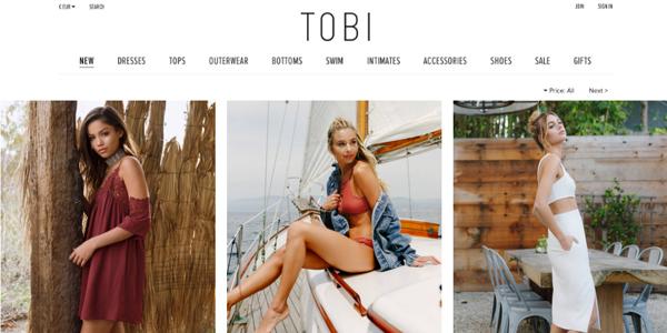 Tobi : Cheap Online Clothing Shop Like Forever 21