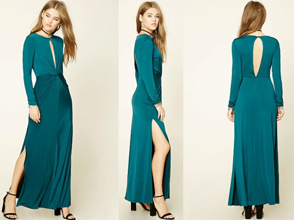 Twisted Front : Green Prom Dresses At Forever 21