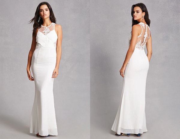White Chiffon Maxi Dresses At Forever 21