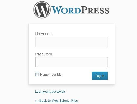 wordpress admin login url
