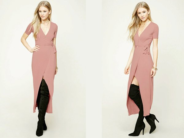 Wrap Front : Dusty Lavender Prom Dresses At Forever 21